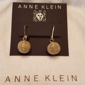 Anne Klein Gold Drop Earrings